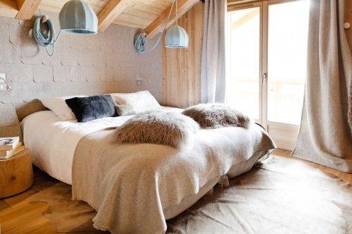 Chambre montagne chalet moderne scandinave chalet scandinave ga pinterest chalets - Chambre adulte style montagne ...