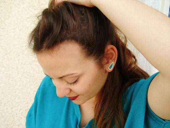 On Sale- Cyber Monday-Moustache Style Ear Cuff- Drop Earrings -Climber Ear Cuff- Ear jackets-Sweep Pin Earrings- Resin Jewellery-egstforgood