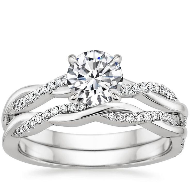 18K White Gold Petite Twisted Vine Diamond Matched Set (1/4 ct. tw.) from Brilliant Earth