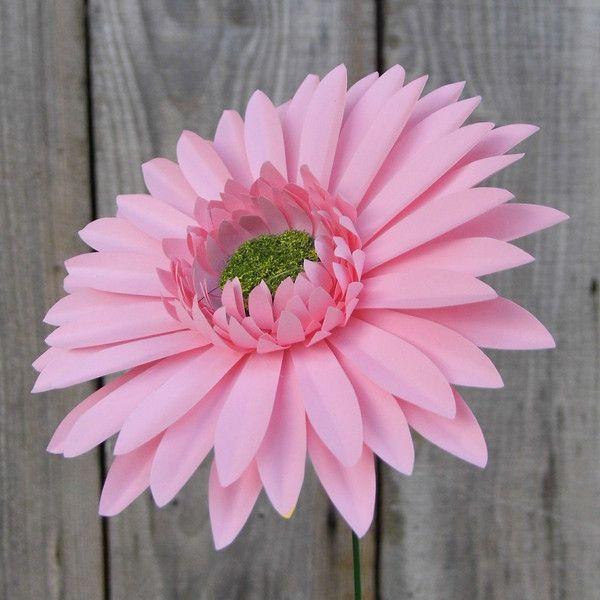 Such a pretty Paper Gerbera Daisy Pink www.wearedcrafts.co.uk