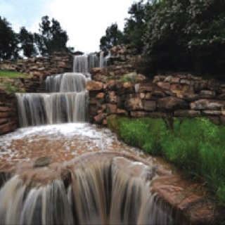 The Falls in Lucy park in Wichita Falls