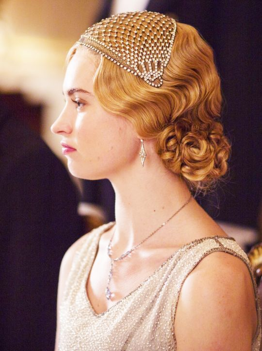 Lily James as Lady Rose MacClare, Downton Abbey | Ent: TV ...
