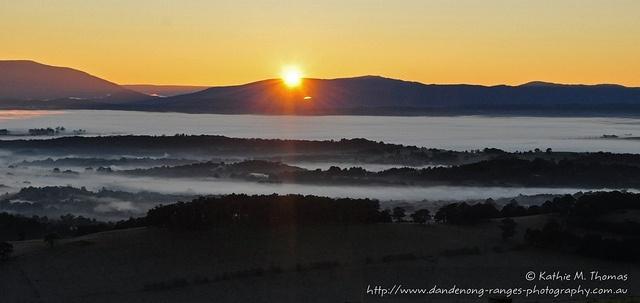 Sunrise at Ridge Road, Kallista, Australia