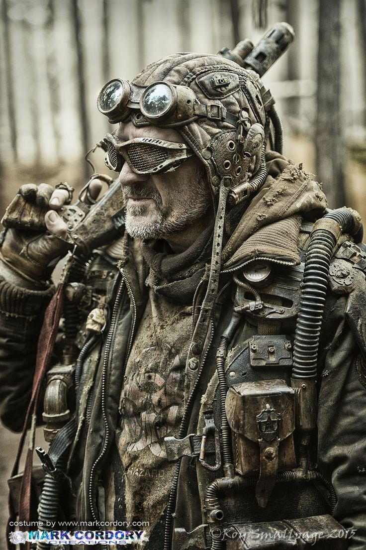 Wasteland warrior post apocalypse LARP Costume by Mark Cordory Creations www.markcordory.com Photo courtesy & © Roy Smallpage