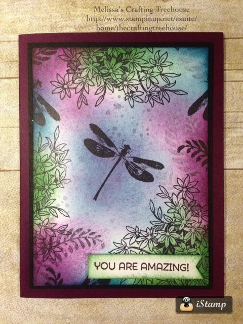 DIY Handmade Card Using The Awesomely Artistic Stamp Set By Stampin Up This
