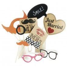 photobooth props - foto rekwisieten voor je bruiloft! via trouwartikelen.nl