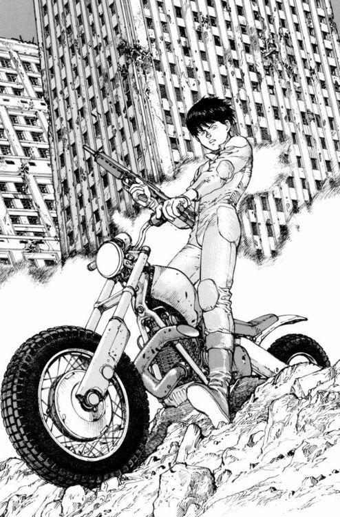 Kaneda, ready to take over Neo Tokyo
