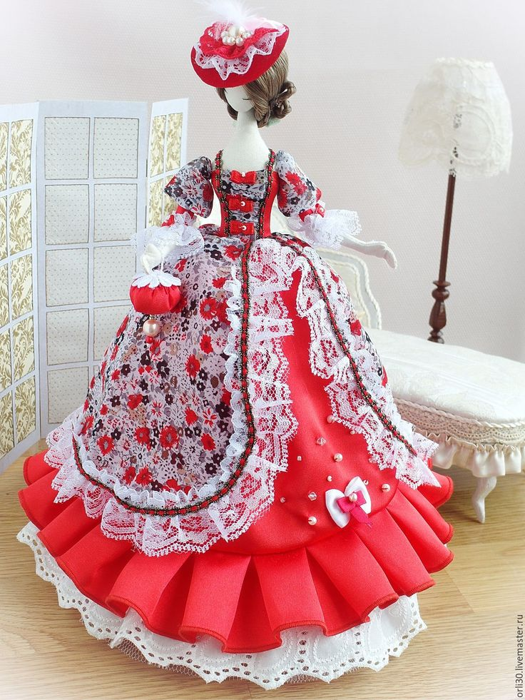Купить Текстильная кукла.Тряпиенс.Елена - ярко-красный, тряпиенса, тряпиенс, тряпиенсы, текстильная кукла