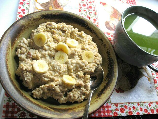 Cremiges Hirsefrühstück mit Banane