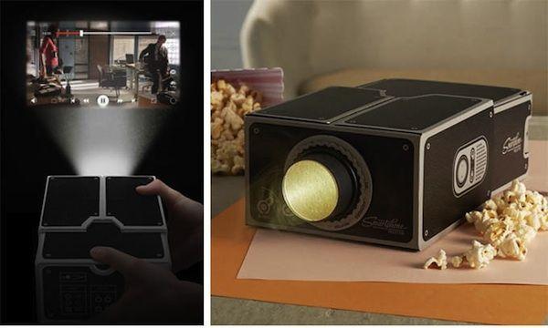 Cardboard Smartphone Projector