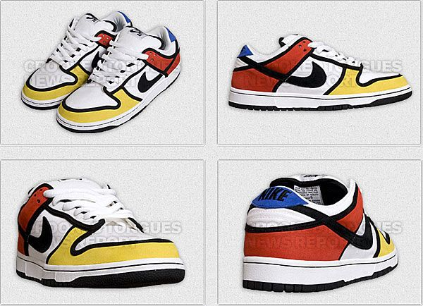 Nike Mondrian Low Dunks Mondrian was a Modern Artist that created  neoplasticism. and apparently influenced these NIKE's!
