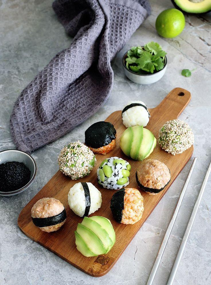 Vegan Onigiri Japanese Stuffed Rice Balls Green Evi Recipe In 2020 Sushi Rice Aesthetic Food Vegan Eating