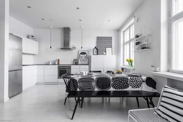 Blog wnętrzarski - design, nowoczesne projekty wnętrz: Szare ściany, żółte akcenty - nowoczesne mieszkanie