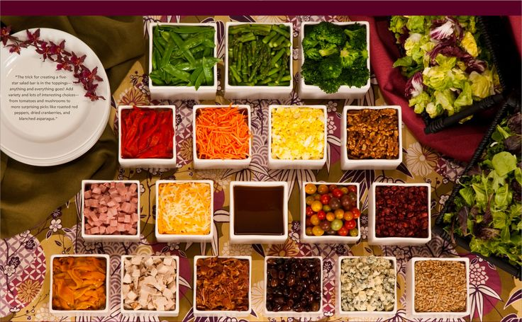 "Salad Bar Party - Isabella wants a ""salad station"" and ""sushi"" bar for her food at her party."
