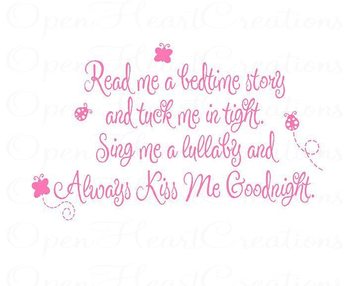 butterfly poems to my daughter | Read Me a Story Wall Decal - Poem Baby Nursery Always Kiss Me ...
