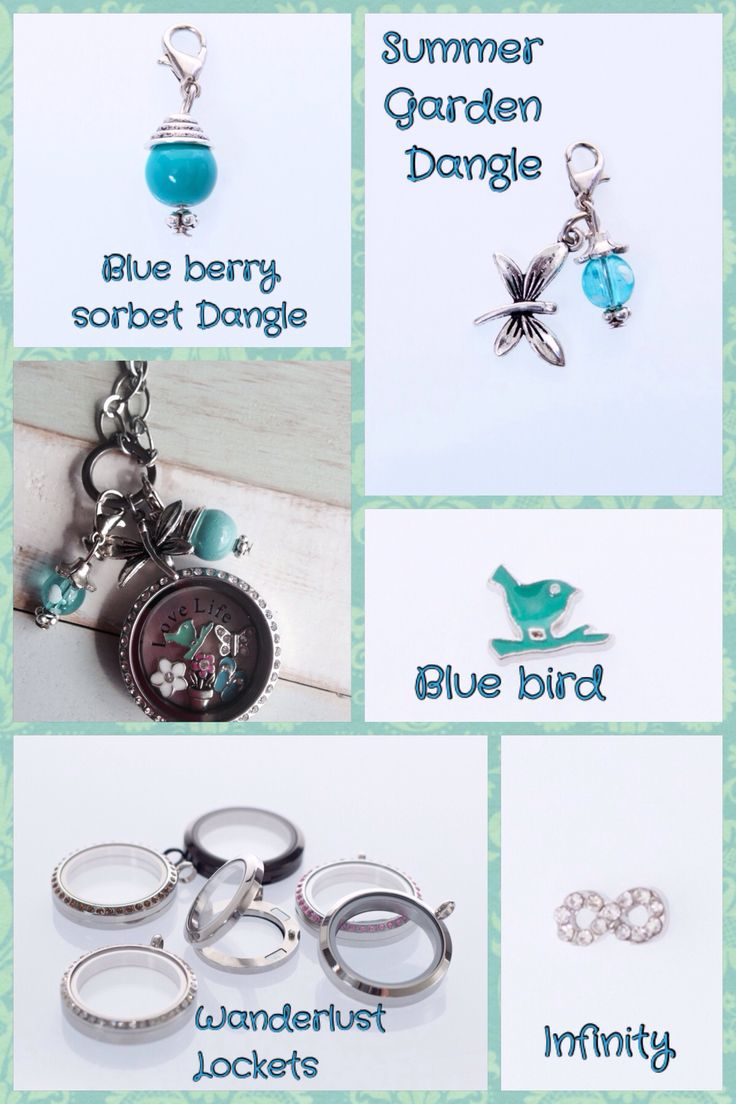 Summer Sorbet Dangles and beautiful charms to add some colour to your locket
