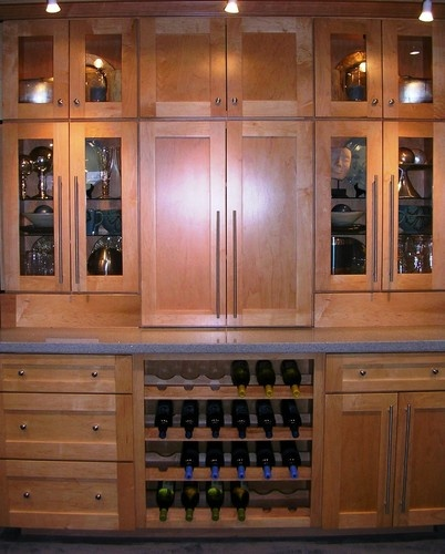 Built in dry bar love this cabinet style store wine in for Closet dry bar ideas