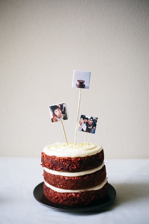 Marshmallow Instagram Cake Toppers