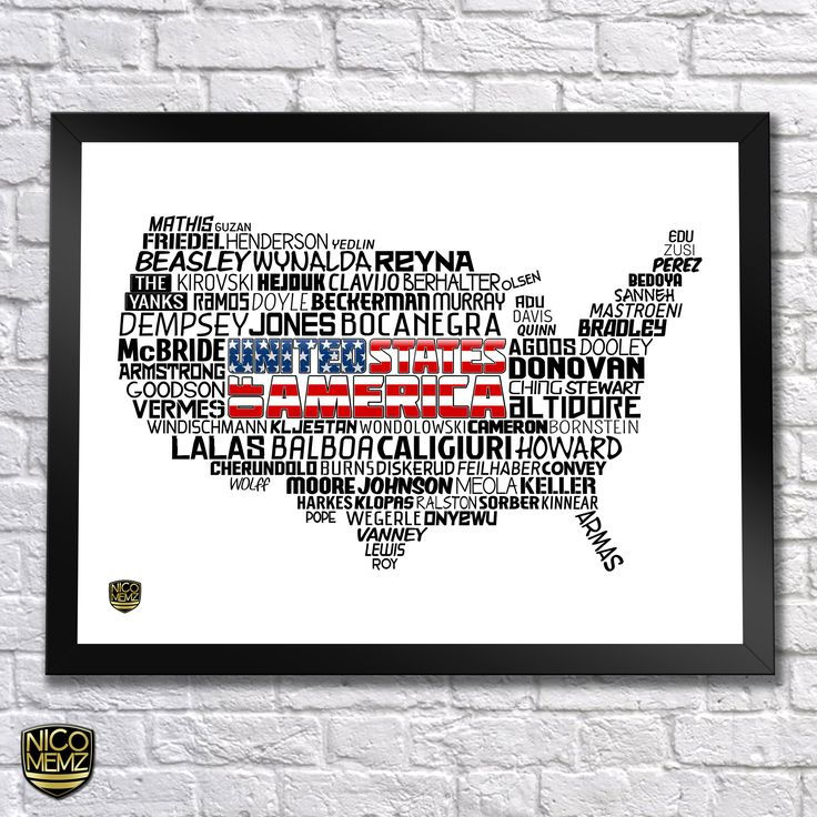USA National Team Poster | check it out at NicoMemz.com