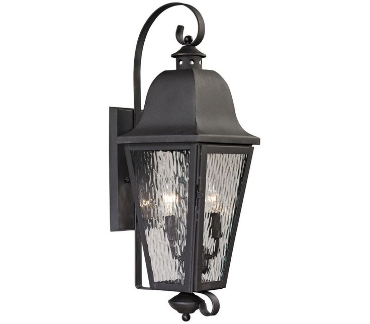 ELK 47100/1, Forged Brookridge Outdoor Wall Sconce Lighting, Charcoal