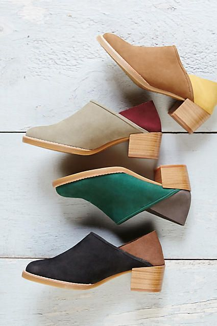The Colorblock Fold-Back Booties are a versatile and modern pair to wear as a…