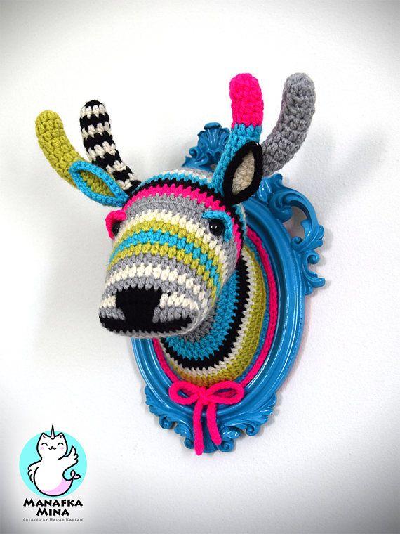 CROCHET PATTERN DIY Faux Deer Head Crochet Taxidermy