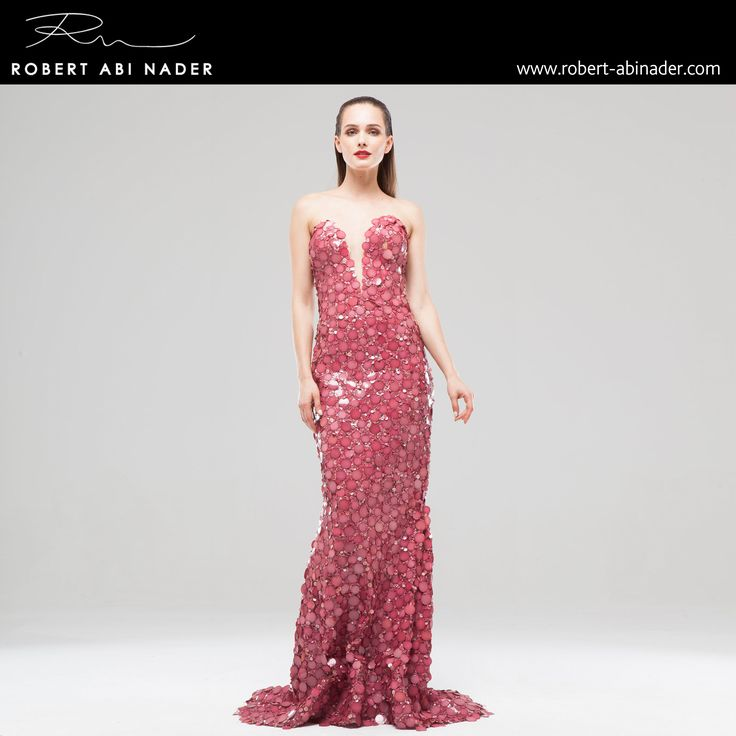 Robert Abi Nader - Ready to Wear - Spring Summer 2015 Long and fitted mermaid dress in embroidered raspberry pink jersey #robertabinader #mermaid #raspberry #pink #glam #lebanon #style #model #heels #fashionista #paris #london #girls #design #attitude #stylish #love #TagsForLikes #todayimwearing #instastyle #springsummer