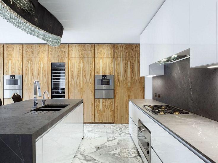 Cucina con isola T30 | Cucina in pietra naturale - TM Italia Cucine