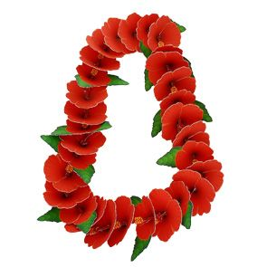 Lei: hibiscus - Others - Parties & Events - Paper Craft - Canon CREATIVE PARK - hibiscus lei printable and instructions for assembly