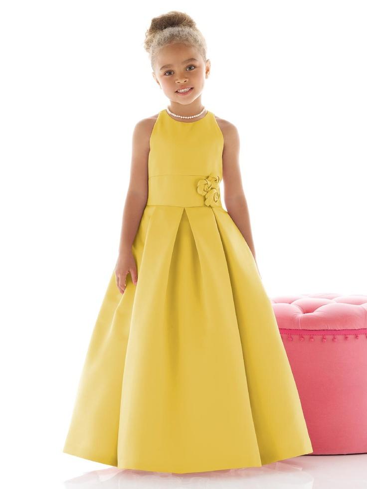 Marigold flower girl dress from Dessy
