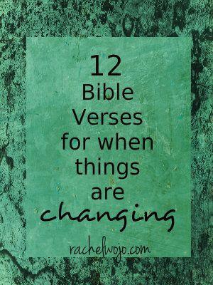 bible verses for a season of change