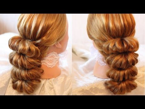 Hairstyle by using rubber bands - Beauty! - 5 - YouTube