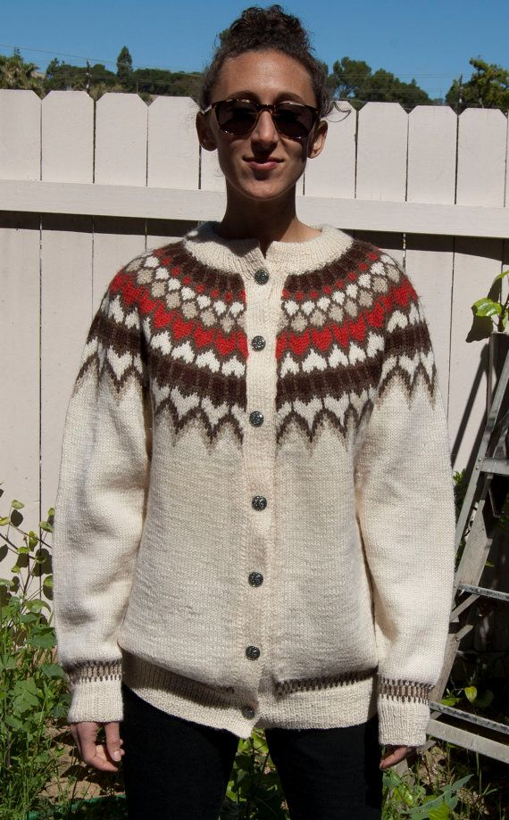 Vintage Dale of Norway Wool Cardigan sweater