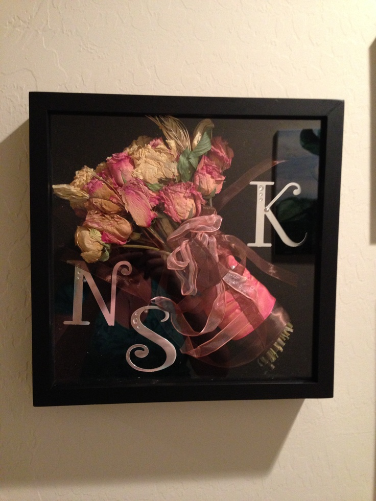 Wedding Bouquet Shadow Box