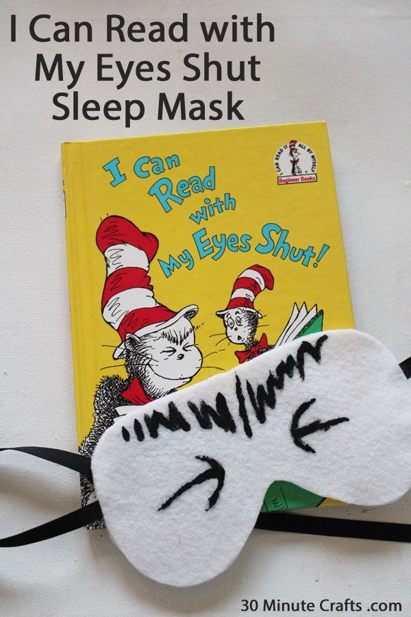 I can read with my eyes shut writing activities