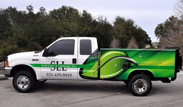 Ford landscaping truck wrap ford wraps and car wrap for Garden maintenance van