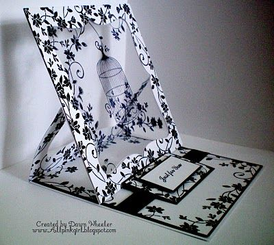 3D easel card -- could use window sheet and Staz-On ink