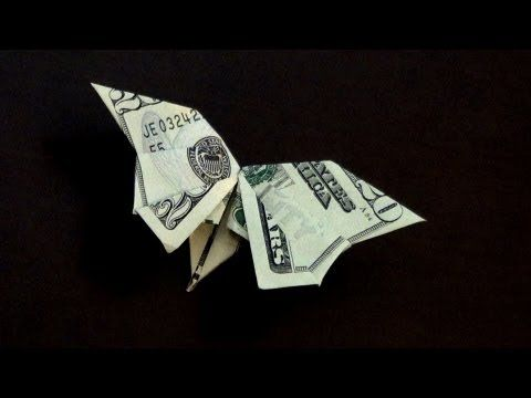 How to make a Dollar Bill Origami Butterfly ✾ - YouTube