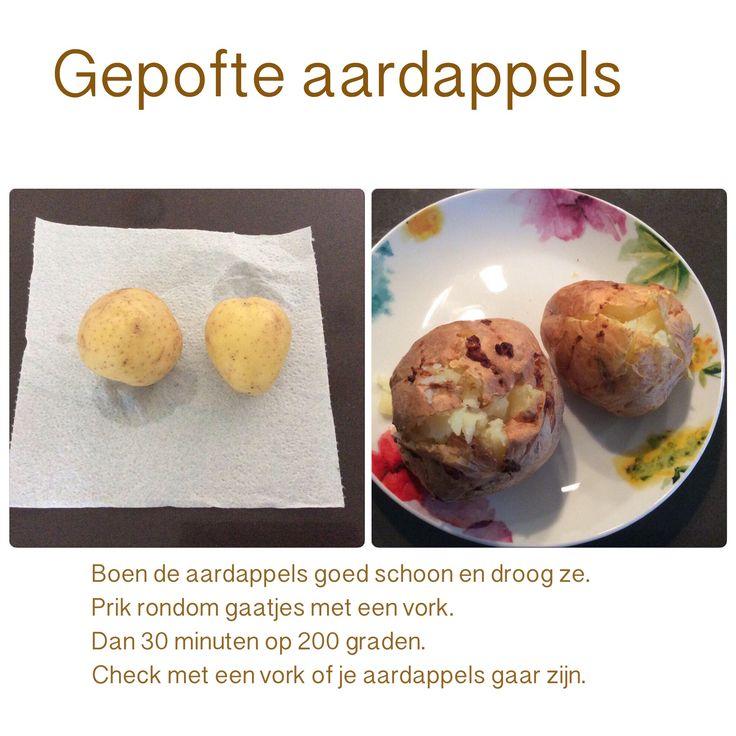Gepofte aardappels uit de Airfryer. 30 minuten op 200 graden. AK