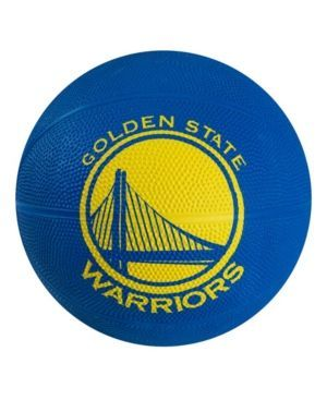 Spalding Golden State Warriors Size 3 Primary Logo Basketball - Black