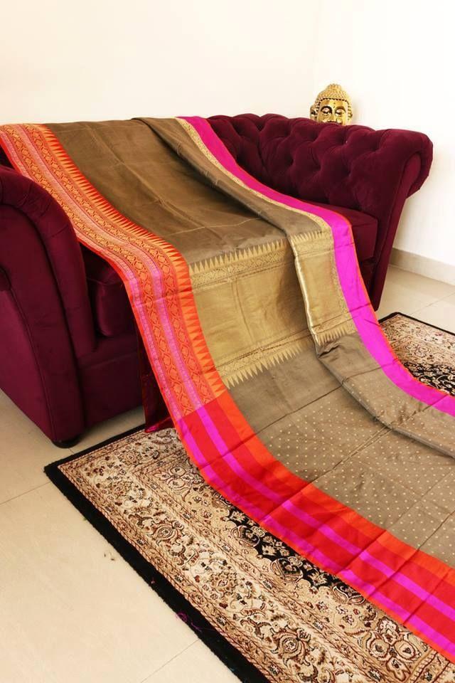 pure banarasi silk saree from umedaa www.yarnstyles.com
