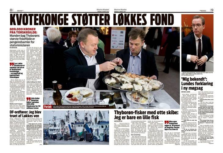Thyborøns kvotekonge og storfisker John-Anker Hametner Larsen sammen med Lars Løkke. Foto: Ekstra Bladet 31. marts 2017
