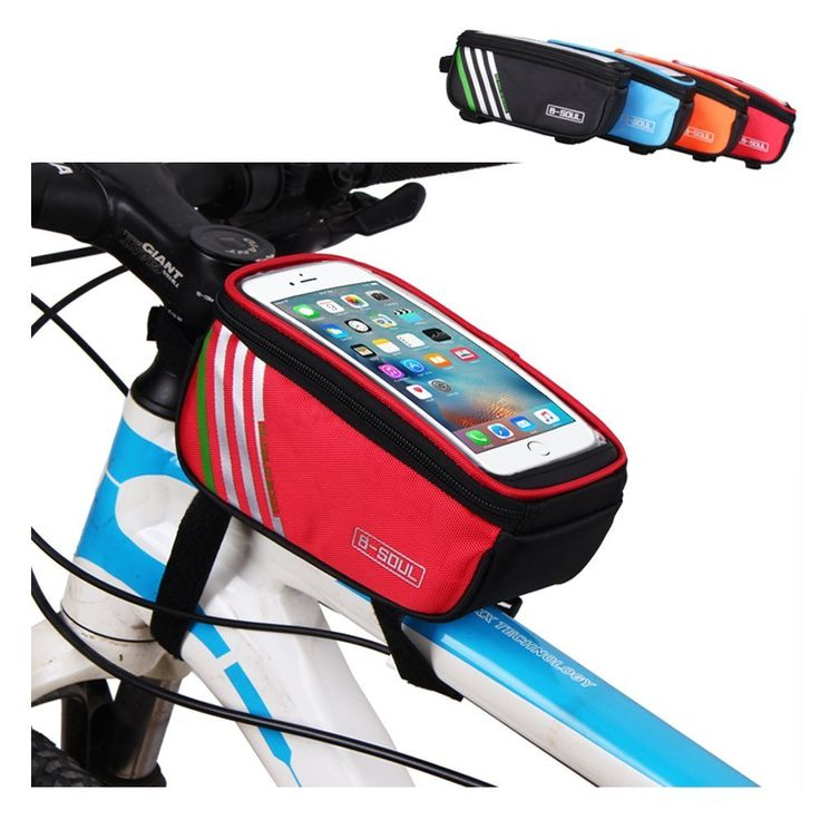 Top Tube Bike Frame Bag, AWOGER Super Light Cycling Bicycle Front Bag Pannier Single Pouch for up to 5.7 inch Cellphone Phone (Red). SUPER LIGHT: Nylon Fabric, 0.24 lb, 1.2L big capacity. GOOD DESIGN: Innovative top tube bag design with a clear pocket on top for a cell phone, beside is a mesh bag easy to carry wet goods. EASY TO USE: Designed with dual zippers, the simple open design makes it easy and convenient to open and help prevent falling out of inside items. GOOD SUPPORT FOR MOBILE...