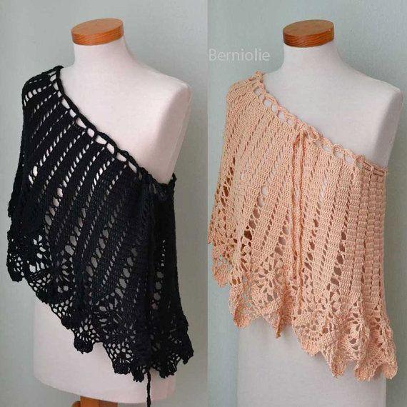 INSTANT DOWNLOAD OSWIN Crochet shawl pattern por BernioliesDesigns