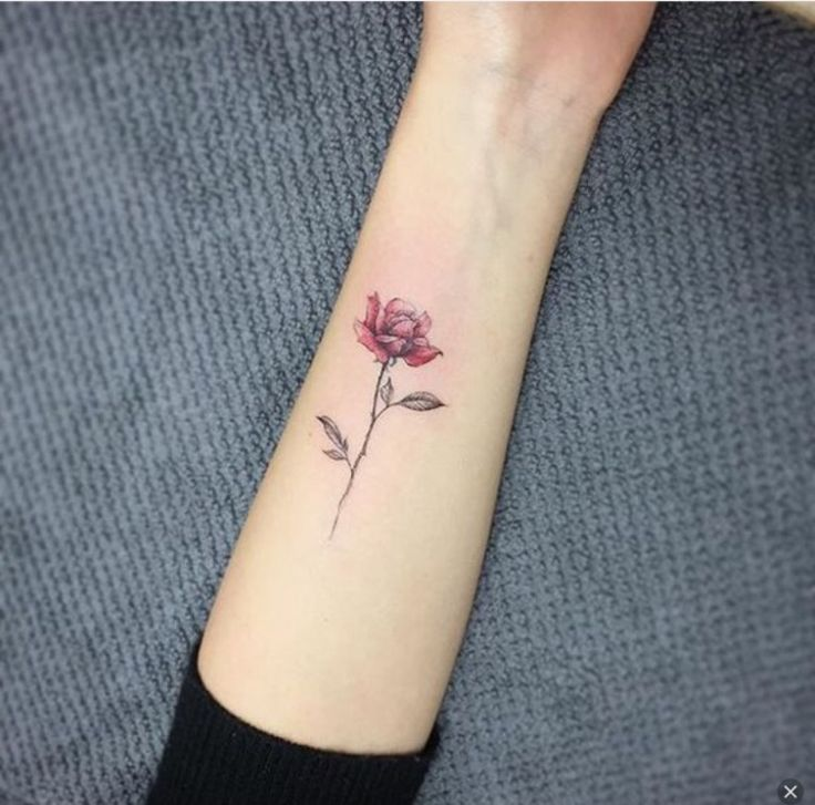 Small Rose Tattoo (can This Be Done In White Or Just Black