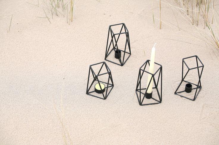 PRUT metal candle holders, Jurmala, Baltic sea