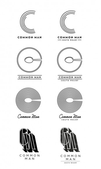 Logo Proposals | The Common Man is an Australian bar-restaurant in South Wharf that specializes in comfort food and a chill ambiance. Their corporate identity relates to this simple and straightforward attitude that mixes a bold look with little details #branding #design: Branding Design, Kelava Branding, Common Man, Comforter Food, Josip Kelava, Branding Logos, Logos Branding, Man Branding, Design Style