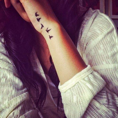 bird tattoos on wrist for girls - sleeve tattoos: