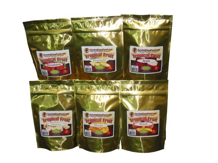Survivalcavefood Freeze Dried Fruit - 5 serving pouch Combo Pack