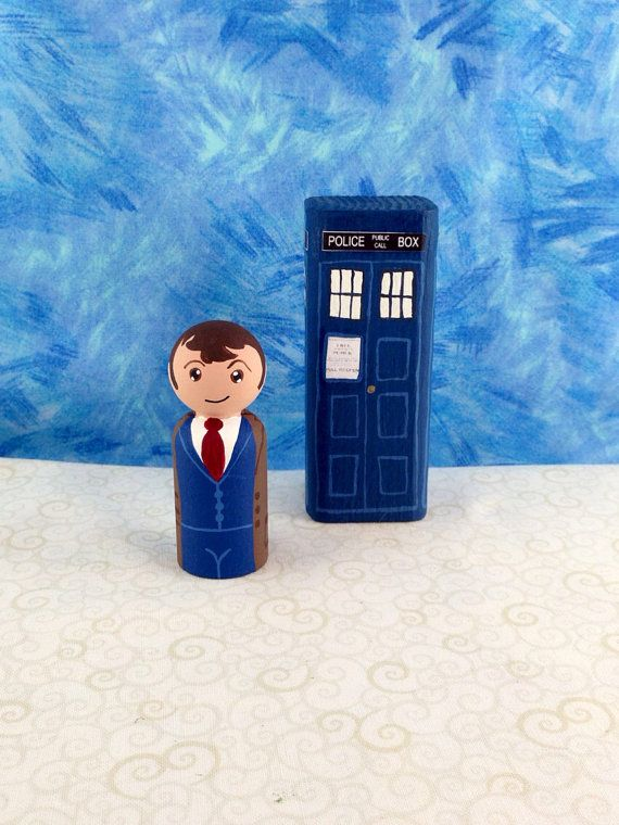 Made to Order 10th Doctor Peg Person with by MakingsFromMommyland, $18.00